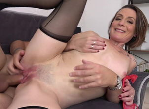 Horny  Ania gets youngster chisel in..
