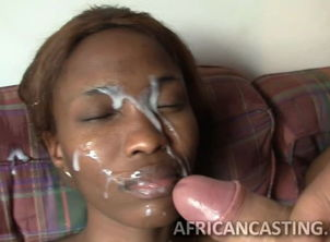 Milky Juice on Ebony Faces-Huge Facial..