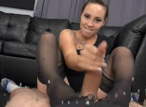 Sasha foxx awesome stinky footjob