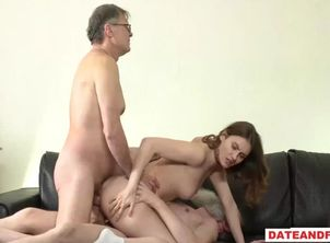 Oldyoung older guy pounding nubile..