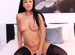 Uber-sexy Dark haired Showcases Her..